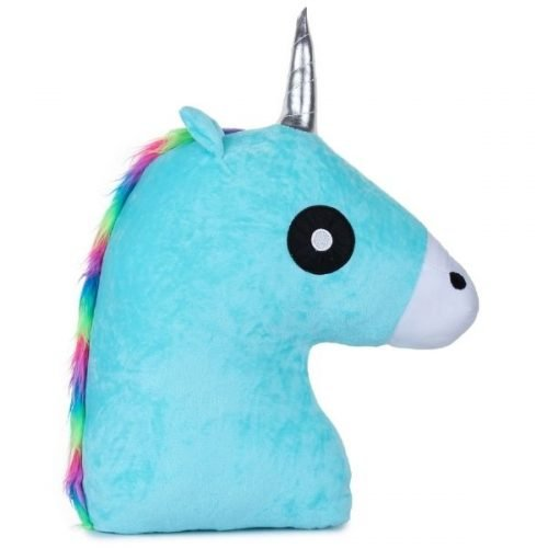 Unicorn Horse Pillow Blue