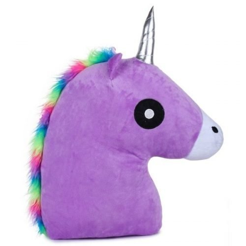 Unicorn Horse Pillow Purple