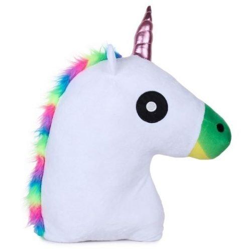 Unicorn Horse Pillow White