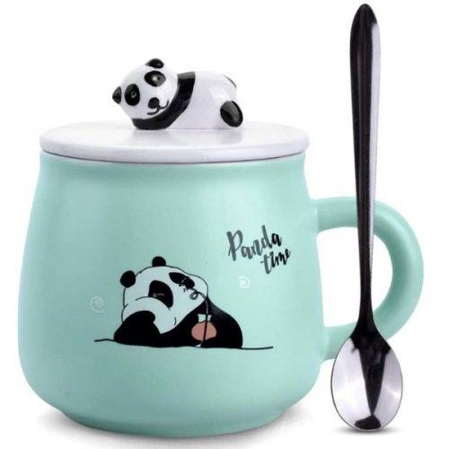 Panda Coffee Mug Green