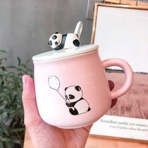 Panda Coffee Mug Pink