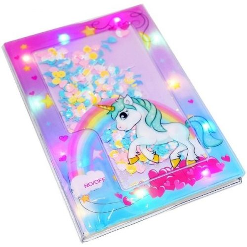 Unicorn Liquid Diary With Light