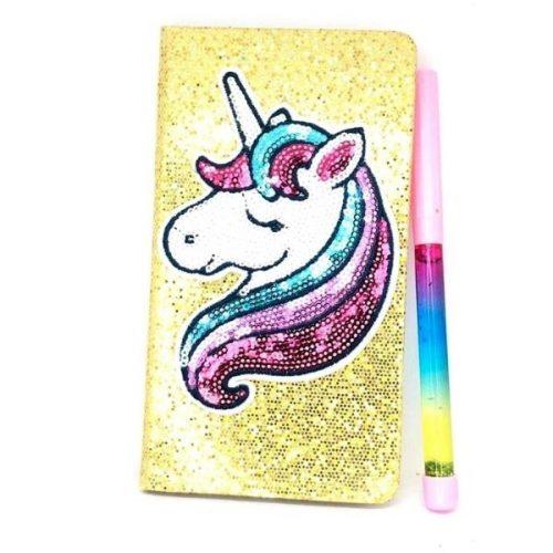 Unicorn Liquid Pen Diary