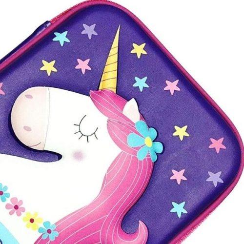 Unicorn Stationery Case Purple