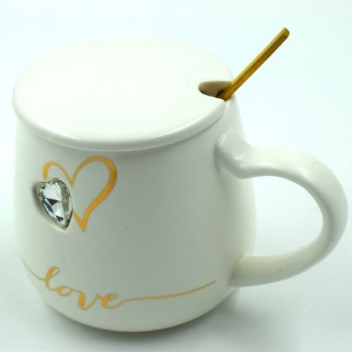 Coffee Cup With Spoon White