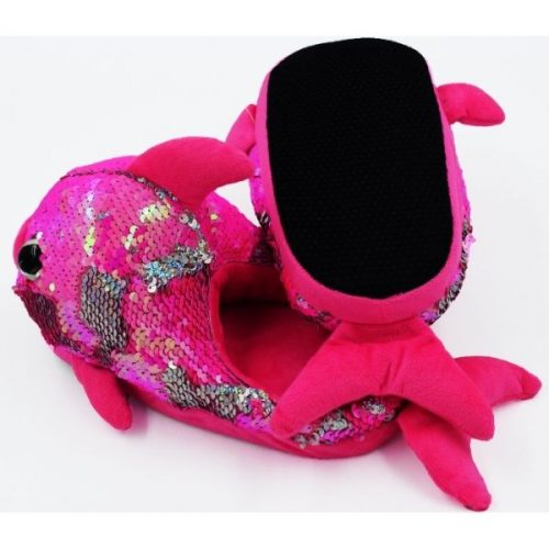 Fish Plush Slipper Pink