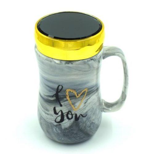 Love Coffee Mug Black