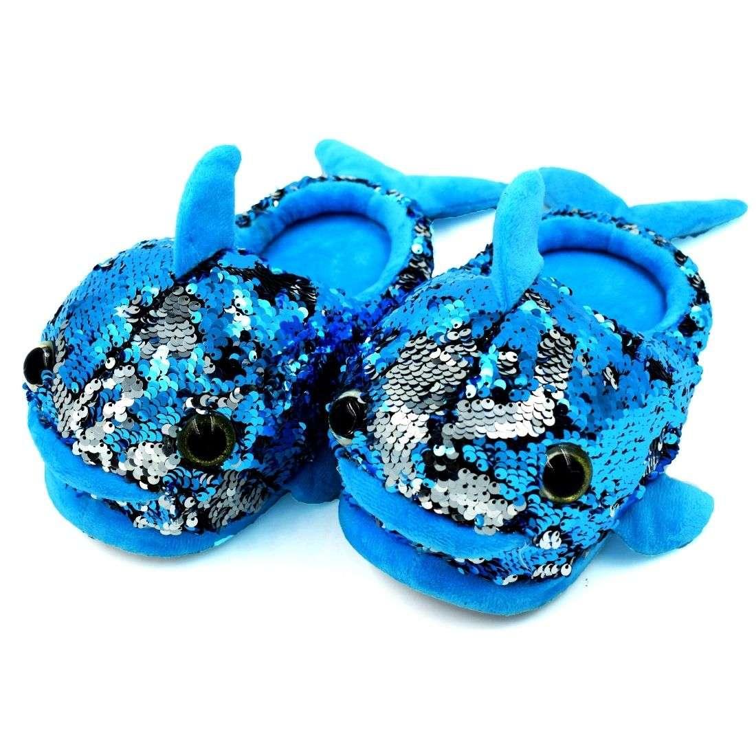 Mermaid Plush Slipper Blue