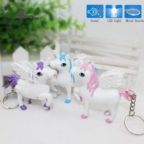 Unicorn Keychain With Light And Sound