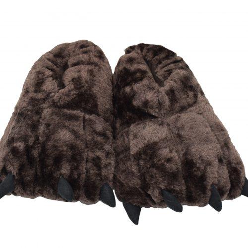Monster Furry Slipper Brown