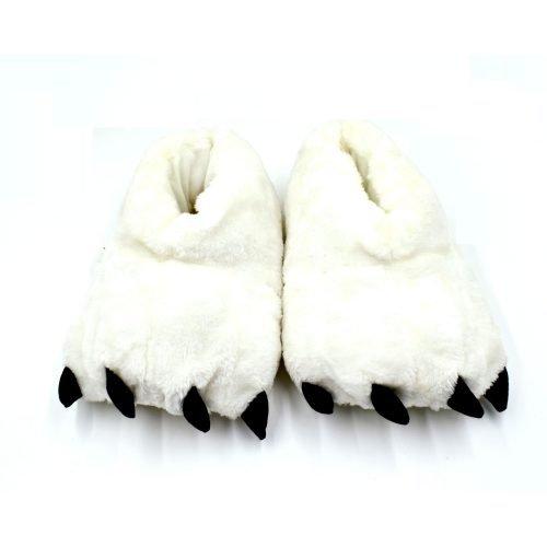 Monster Furry Slippers White
