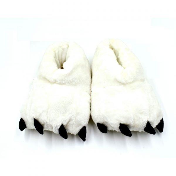 Monster Furry Slippers White - Bulk Deal