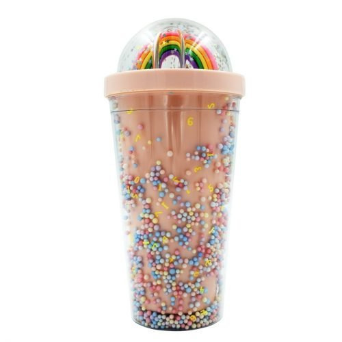 Rainbow Water Sipper Pink