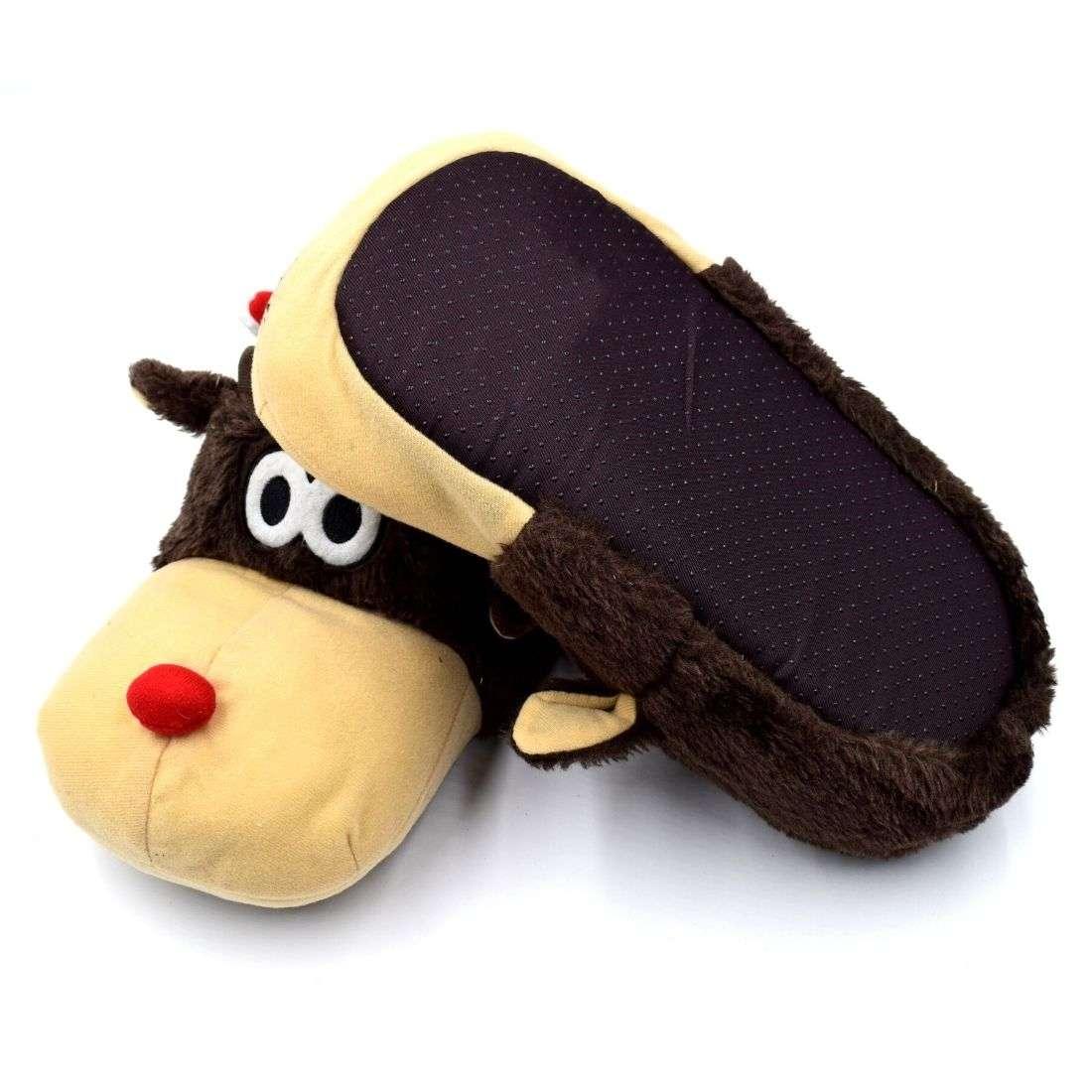 Reindeer Hat Plush Shoes - Bulk Deal