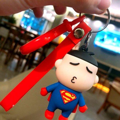 Superman Keychain And Keyring