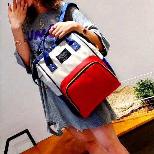 Trendy Women Backpack Red