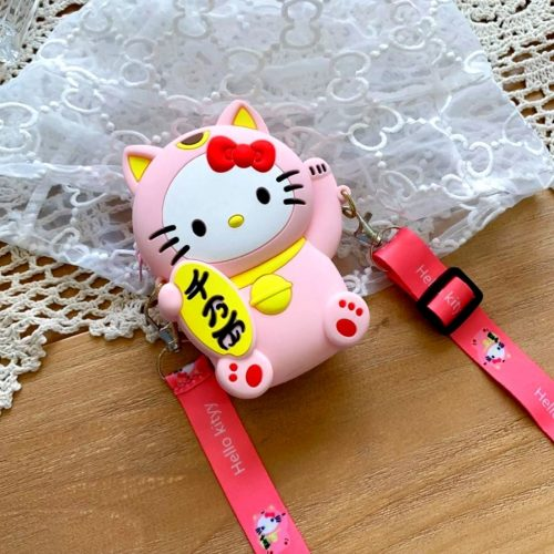 Kitty Coin Case Pink
