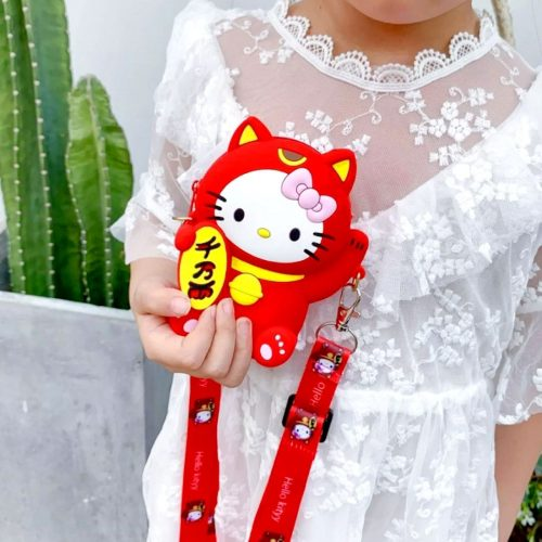 Kitty Coin Case Red
