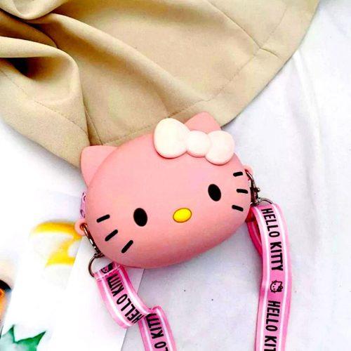 Pink Kitty Coin Case Round