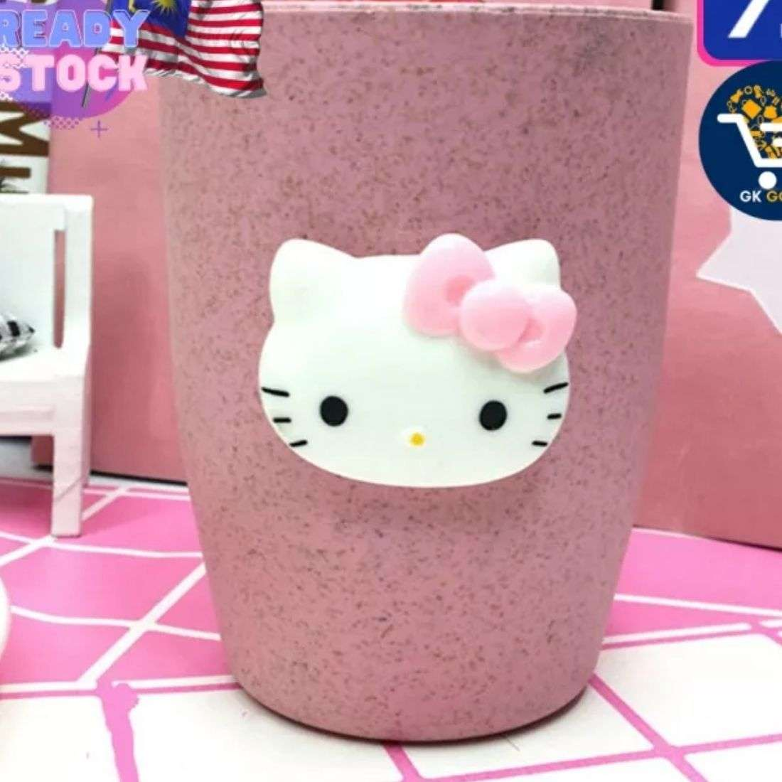 Kitty Plastic Glass Pink Color