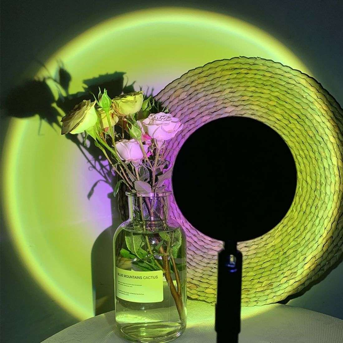 Sunset Projector Lamp Green